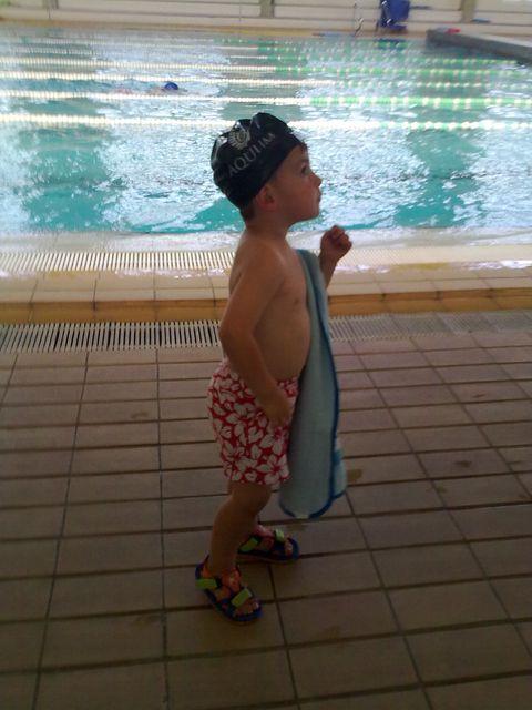 1 de Julio de 2010. Mi primera clase de natación